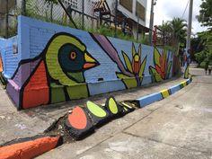 Transformación de muro en hermoso mural #MedioAmbiente