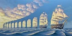 The incredible paintings of Rob Gonsalves may make your mind spin!