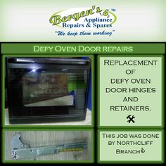 Why battle with an oven door with shoddy hinges? It's not safe and why battle trying to open and close your oven door?  We can fix that for you. #wekeepthemworking #bergensappliances #appliancerepairs #applianceparts #wefixappliances #ovenrepair #oven #ovencleaning #ovendoors #quote #southafrica #bergensvanderbijlpark  Follow us on Instagram and Pinterest Contact:  076 960 6467 Email:   vanderbijlpark@bergens.co.za