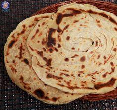 Lachha Paratha - #Indian Flat Bread #Recipe By Ruchi Bharani.
