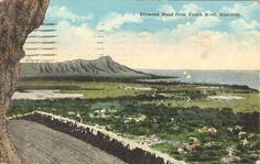 "Diamond Head as seen from ""Punchbowl"" postcard."