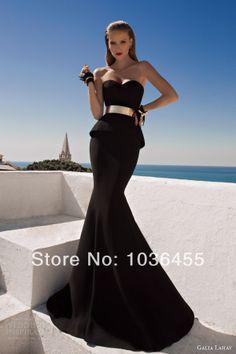 2014 caliente de la venta de vestidos de fiesta, negro impresionante novia de fiesta vestido de sirena baratos exquisito vestido de noche