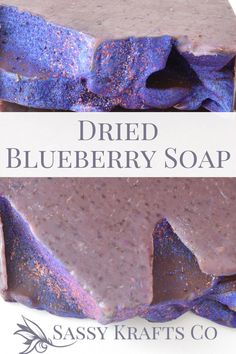 Blueberry Muffin Soap, Handmade Soap Made with Dried Blueberries and Tahitian Noni FruitI dry, and grind organic blueberries super fine and blend them with Tahitian noni fruit.This is a power packed combo is full of antioxidants and vitamin C. This bar helps balance and maintain a healthy complexion. The dried blueberries offer a mild, gentle exfoliation.