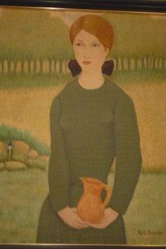 """arte """"mujer con jarra"""" de LLuis Puig Barella"""