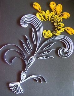 An abstract design using quilling technique.