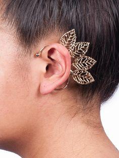 Angel Wing Leaf Ear Cuff.