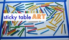 Sticky art table - no mess, lots of fun