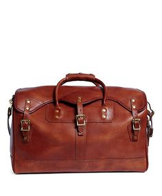 J.W. Hulme Leather Small Duffel Bag Brown