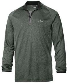 Greg Norman For Tasso Elba Men's Heathered Mock-Neck Quarter-Zip Shirt, Only at Macy's - Green XXL