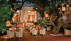 The Raleigh Hotel: The scene at night can be as wild or subdued as you like; dine outside or party poolside.