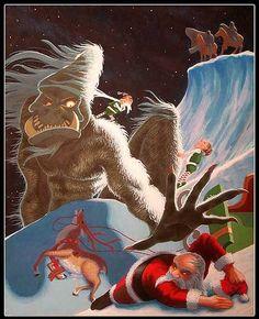 Yeti vs Father Christmas / Santa Claus