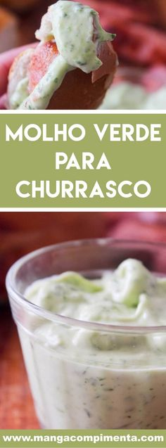 Receita de Molho Verde para Churrasco - aproveite o final de semana de churrasco com os amigos para servir bem! Salty Foods, Vegan Foods, Pesto, Barbecue, Cereal, Food And Drink, Pizza, Pudding, Meals