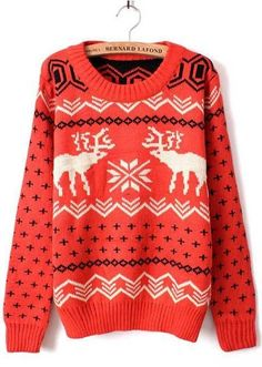 ahhh christmas sweaters!!! Pair this with a high bun and some skinny denims and oxfords perfect!!!!! ❤
