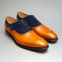 Newport Chestnut & Navy Suede Cheaney Shoes.