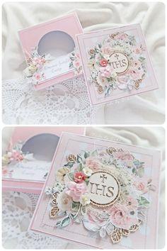 Craft Corner, Cute Cards, Communion, Decorative Boxes, Scrapbook, Shapes, Diy, Crafts, Paper