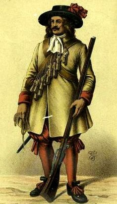 Austrian musketeer, second half of the 17th century.