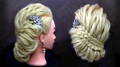 Elegant braided hairstyle/Fancy updo using topsy tail tool
