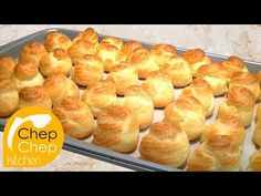 How to make perfect CREAM PUFFS _ Bánh SU KEM (Choux à la Crème) - YouTube