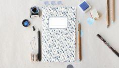 Notebook 2 blue arrows by deKrantenkapper on Etsy, $6.00