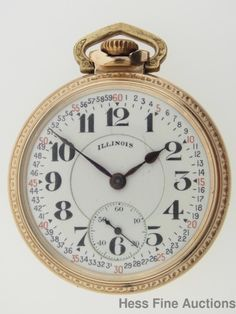 23J Motor Barrel Bunn Special Illinois Montgomery Dial 16s Railroad Pocket Watch