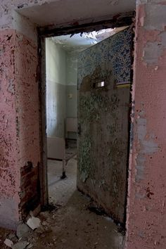 Northampton State Mental Hospital - I guess the pink walls were meant to brighten the patients' spirits