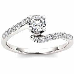 Imperial 1/2 Carat T.W. Diamond Solitaire 14KT White Gold Engagement Ring