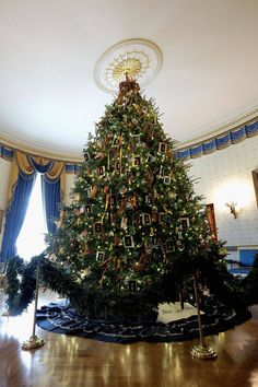 Christmas Decorations at the White House.........Official White House Christmas Tree
