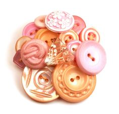 Button Brooch Felted Coral Peach Pink by InstinctivelyIndie, $19.50