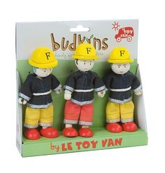 Le Toy Van - Budkins Doll Firefighter Set #EntropyWishList #PinToWin - Cute - tick! Promotes imaginative play - tick! Completely necessary in our playroom - ABSOLUTELY!