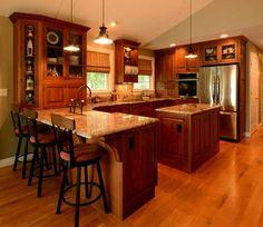 Kitchen with island in Agawam MA Designed by Kitchen Bath Design