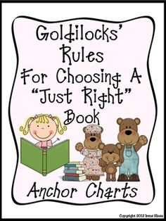 "PICKING JUST RIGHT BOOKS ~ READING WORKSHOP: Goldie Socks and the Three Libearians is an adorable retelling of the classic fairytale, Goldilocks and The Three Bears. This book is the perfect story for children (and their parents) to understand what ""just right book"" reading is all about. Choosing a ""just right"" book is an important skill for all students. One of the author's purposes in this book is to inform the reader about the five finger rule. $"