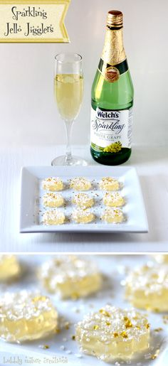 Sparkling Jello Jigglers ⋆ Easy New Years Eve Dessert ⋆ Sprinkle Some Fun - - These sparkling Jello Jigglers are so fun to make for a new years eve party! Pavlova, Dessert Nouvel An, Jello Jigglers, New Years Eve Dessert, New Years Eve Food, New Years Appetizers, New Year's Desserts, Baking Desserts, New Year's Food