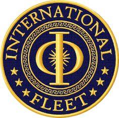 Ender's Game International Fleet Uniform Patch by GlitchTechSewing, $11.00