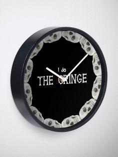 """The Cringe (CXG Inspired)"" Clock by Ukulily | Redbubble Crazy Ex Girlfriends, Quartz Clock Mechanism, Cringe, Design Inspiration, Art Prints, Inspired, Stuff To Buy, Art Impressions"