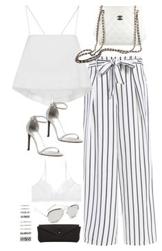 """""""Sem título #5072"""" by fashionnfacts ❤ liked on Polyvore featuring A.L.C., Chanel, Stuart Weitzman, Linda Farrow, MANGO and Forever 21"""