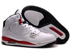 6507813bc603 Air Jordan 2010 Threaded Shoes In White Red Black