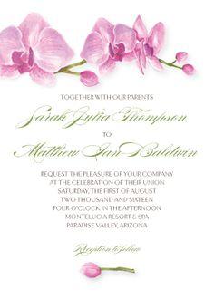 Wedding Invitations - Artistic Orchid