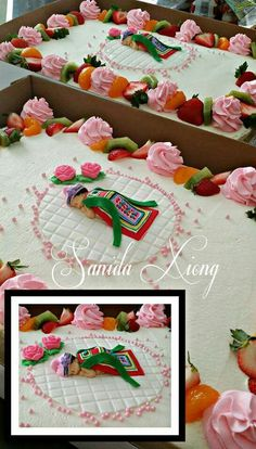 Hmong baby shower cake