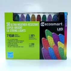 EcoSmart 50Light LED C6 MultiColor String Light Commercial Quality -- You can get additional details at the image link.