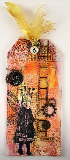 Suzz's Stamping Spot, Tim's Tags August, Serendipty, Wendy Vecchi, Hero Arts, Layering Stencils