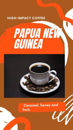 Certification/Grading: A/X Roast: Medium Tasting Profile: Caramel, honey and fruit. Grower: Small agricultural cooperatives in Chimbu. Variety: Bourbon & Typica Region: Chimbu Province, Papua New Guinea #coffee #coffeebars #coffeeshops #highimpact coffee Types Of Soil, Wash N Dry, Papua New Guinea, Bourbon, Coffee Shop, Caramel, Single Origin, Fruit