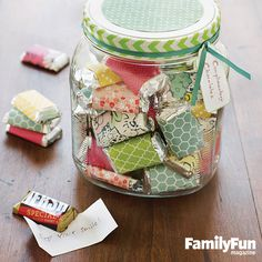 Constant Compliments: A collection of sweet sentiments -- each wrapped around a chocolate candy -- makes a delectable present for that someone your child just can't say enough good things about!