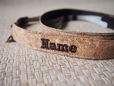 Paralife YOUR NAME's Cork Camera Strap for DSLr / SLR all Custom Handmade on Etsy, $39.00