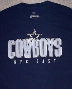 Dallas COWBOYS NFL Football Shirt Adult Large Blue NFC East AT&T Stadium Texas #DallasCowboysAuthentic #DallasCowboys