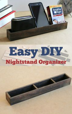Do you know someone whose keys always go missing after midnight? Breathe Right Nasal Strips always getting lost in the back of the medicine cabinet? Take care of these problems and build one of these EASY nightstand organizers! #TomorrowStartsTonight | ad