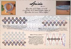 SPIRÉE Bracelet - FREE Tutorial by Mu. Page 2 of 2. Use: seed beads 11/0 (r11)(step 1,2 and 3), 2 seed beads 15/0 (r15)(start and finish in step 4), seed beads 2,5mm (r2,5)(step 4).
