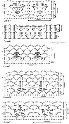 Страница №46. Узоры и схемы для вязания крючком.