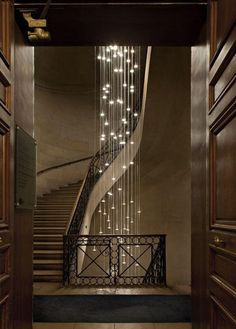 Home Lighting Style Inspiration! A classic chandelier for long, drape down lights. It's instant urbanity.