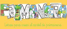 Mes de Marzo, mes de la primavera, letras para decorar el aula