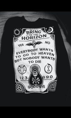 Bring Me the Horizon hace mi musica favorita <3 Este sueter es muy perfecto!